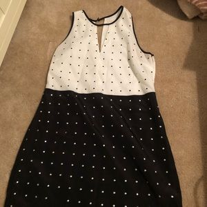 Large Black and white interview dress